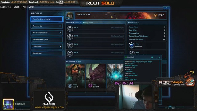 Stream by ggsolo - StarCraft II: Heart of the Swarm